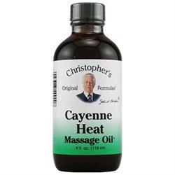 Dr.christopher's Formulas Cayenne Heat Massage Oil, 4 oz, Christopher's Original Formulas