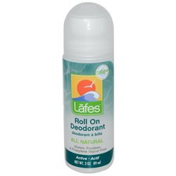Lafes Natural Body Care Lafes - Deodorant Roll On All Natural Active - 3 oz.