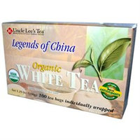 Uncle Lees Tea 0778332 Legends of China Organic White Tea - 100 Tea Bags
