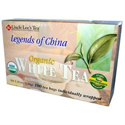 Uncle Lees Tea 0778332 Legends of China Organic White Tea - 100 Tea Bags