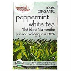 Uncle Lees Tea 0638882 Imperial Organic Peppermint White Tea - 18 Tea Bags