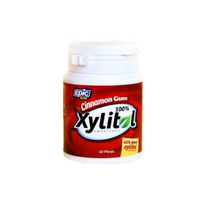 Epic Dental Cinnamon Gum Xylitol Sweetened 50 Count