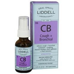 Liddell Laboratories - CB Cough Bronchial Homeopathic Oral Spray - 1 oz.
