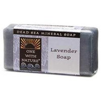 One With Nature, Dead Sea Mineral Lavender Soap Travel Size 1 oz