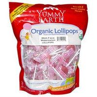 Yummy Earth Organic Lollipops Wet-Face Watermelon 12.3 oz
