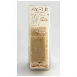 Thai Deodorant Stone - Ayate All-Natural Wash Cloth with Cleansing Bar
