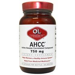 Olympian Labs AHCC 750mg 60 capsules