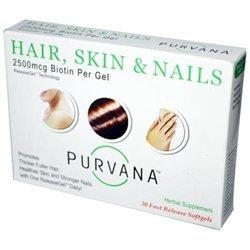 Purvana Hair, Skin & Nails, 30 Softgels, Heaven Sent Naturals