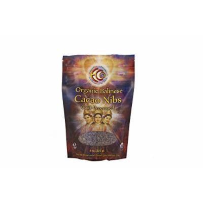 Earth Circle Organics Balinese Cacao Nibs 100% Raw, 8 Ounce
