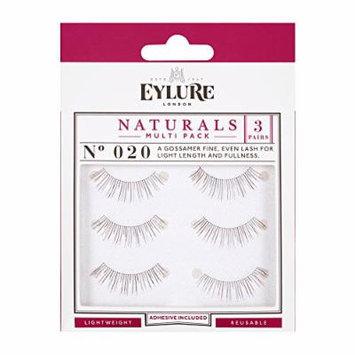 (Pack of 15 Pairs) Eylure Naturalites #020 False Eyelashes, Black Multi-Pack