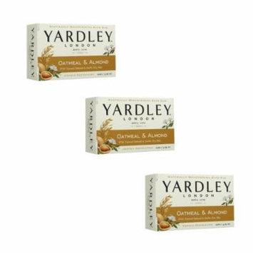 Yardley Oatmeal and Almond Bar Soap, 4.25 Ounce, Set of 3