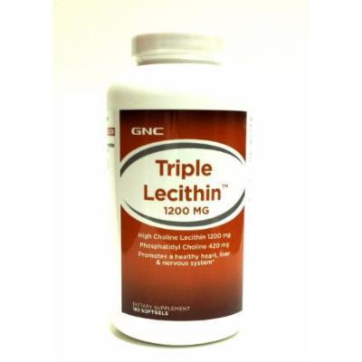GNC Triple Lecithin 1200 mg 180 Softgels (1 Bottle)