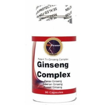 Ginseng Complex # Ginseng 1000 mg- 180 Capsules - Potent Tri-ginseng Complex - BioPower Nutrition (2 Bottles)