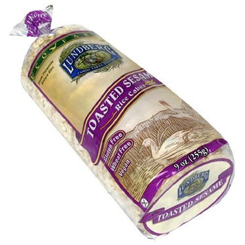 Lundberg Eco-Farmed Toasted Sesame Rice Cake, 9-Ounce Units (Pack of 12)