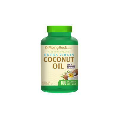 Coconut Oil 1000mg Extra Virgin Organic 100 Softgels
