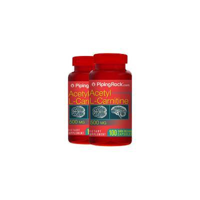 Acetyl L-Carnitine 500mg 2 Bottles x 100 Capsules
