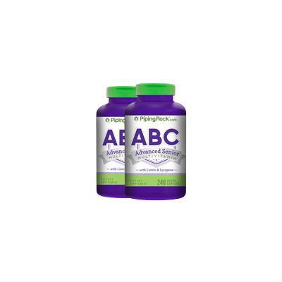 ABC Advanced Senior w/Lutein 2 Bottles x 240 Coated Caplets