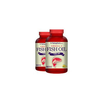 Omega-3 Fish Oil 1200mg 2 Bottles x 240 Softgels