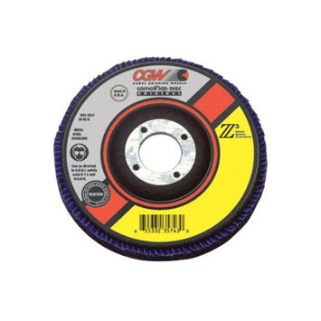 CGW Abrasives Flap Discs, Z3 - Ultimate 100pct Zirconia - 4-1/2x7/8 z3-36 t27 ultimate flap disc