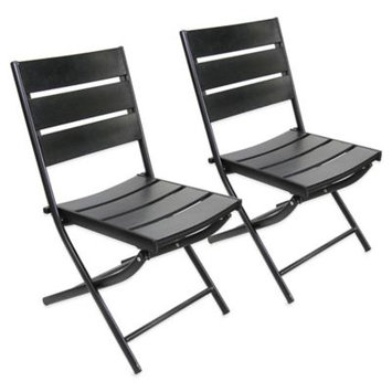 Jordan Manufacturing Canyon Outdoor Dining Chairs, Black
