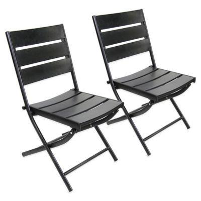 Jordan Manufacturing Canyon Outdoor Dining Chairs, Black