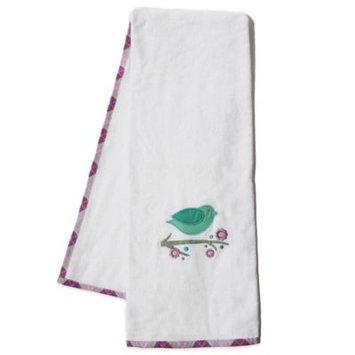 Pam Grace Creations Lavender Lovebirds Bath Towel (Set of 2)