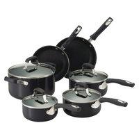 Guy Fieri Nonstick Aluminum 10 Piece Cookware Set Black