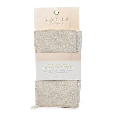 Aquis Exfoliating Shower Towel 10 x 34 inches
