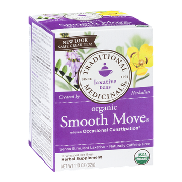 Traditional Medicinals Laxative Teas Organic Smooth Moves Tea Bags - 16 CT
