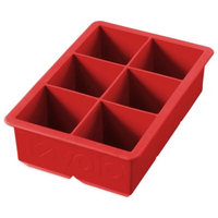 Tovolo King Cube Silicone Ice Tray in Red