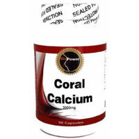 Coral Calcium # 180 Capsules 3300mg Okinawa Marine Coral Calcium w/ Trace Minerals (2 Bottles)