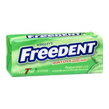 Wrigley's Freedent Gum Peppermint - 15 CT