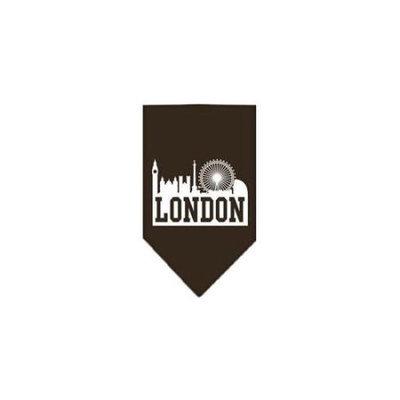Ahi London Skyline Screen Print Bandana Cocoa Small