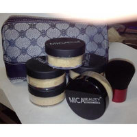 Bundle 8 Items: Mica Beauty (Micabella) 6xmineral Foundation 9 Gr Mf-5 Cappuccino Full Coverage 100% Natural + Highe Quality Kabuki Brush By Itay+ Makeup Blue Case