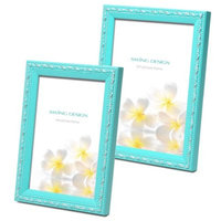 Swing Design Mercer Wood Picture Frame in Turquoise