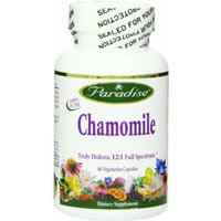 Paradise Herbs Chamomile 12:1 250 Mg Vegetarian Capsules, 60 Count
