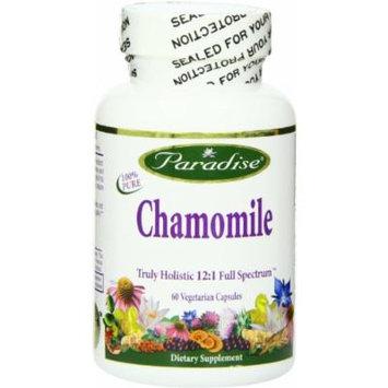 Paradise Herbs Chamomile 12:1 250 Mg Vegetarian Capsules, 60 Count