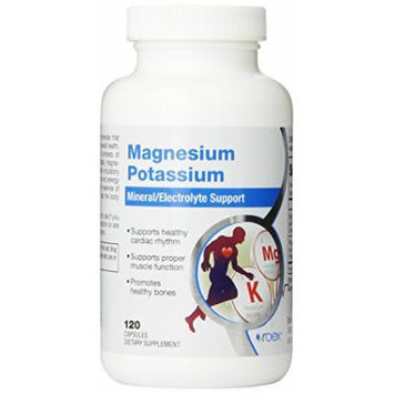 Roex Magnesium Potassium Dietary Supplements, 120 Count