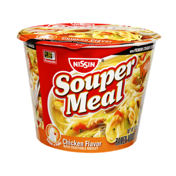 Nissin Souper Meal Chicken Vegetable Medley Ramen Noodle Soup