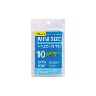 Ad-Tech 443561 Multi Temp Mini Glue Sticks-4 in. x .28 in. 10-Pkg