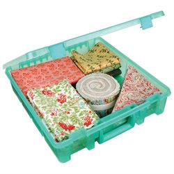 Art Bin ArtBin Super Satchel Translucent Teal Single Compartment Storage Case