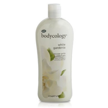 Bodycology Shower Gel and Bubble Bath, White Gardenia, 16 Fluid Ounce (Pack of 2)