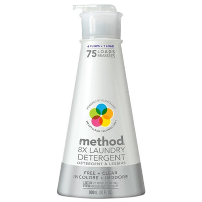 method 8X Laundry Detergent, Free + Clear, 30 oz