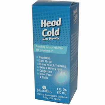 NatraBio Head Cold Non-Drowsy 1 fl oz