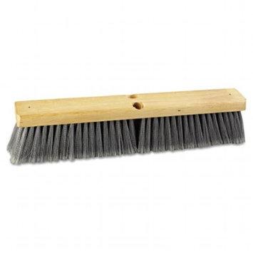 Boardwalk 20418 - C-Push Broom Gray Flagg D 18 inch