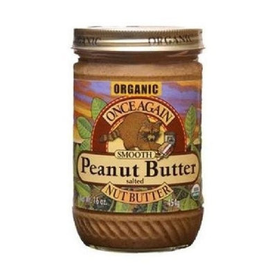 Once Again Organic Creamy Peanut Butter, 16 Ounce -- 12 per case.