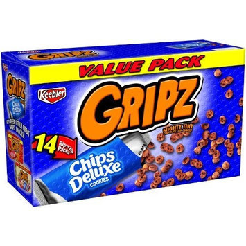 Gripz Chips Deluxe Chocolate Chip Value Pack, 12.6-Ounce (Pack of 6)