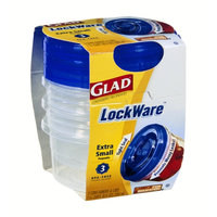 Glad LockWare Extra Small Containers & Lids - 3 CT