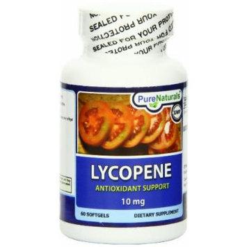 Pure Naturals Lycopene Softgels, 10 mg, 60 Count