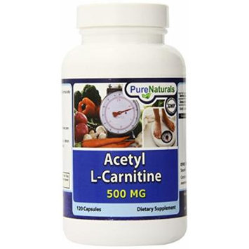 Pure Naturals Acetyl L-Carnitine Capsules, 500 mg, 120 Count